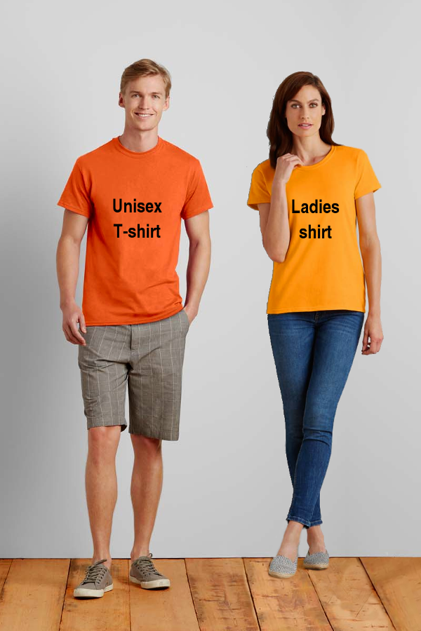 Image: Unisex T-shirt vs Ladies T-shirt